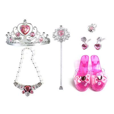 princess dress up kit with fashion accessory many pieces