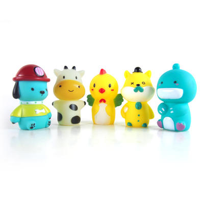 Lovely animal hand finger puppets TPR doll set toy