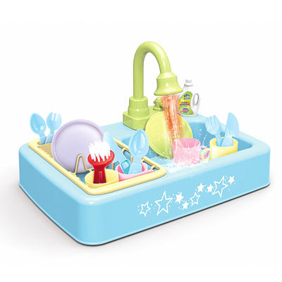 Kids toy kitchen play house sink pretend dishwasher playing toy